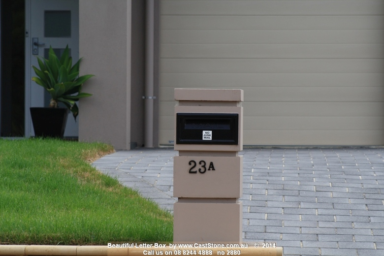 Keystone 400 Letterbox painted to match house render