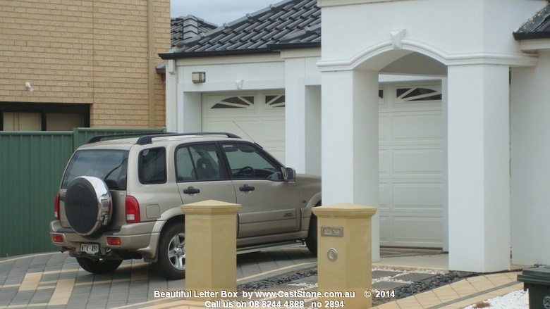 Paired CastStone Executive letterboxes