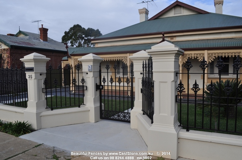 A formal entry created with CastStone pillars