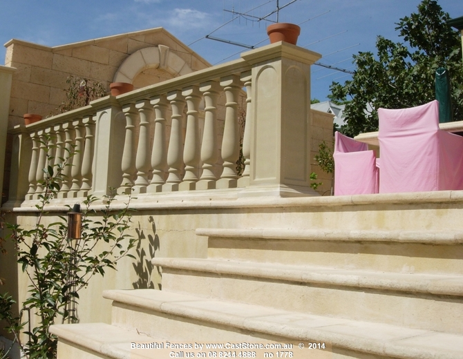CastStone makes a large range of sandstone balustrades