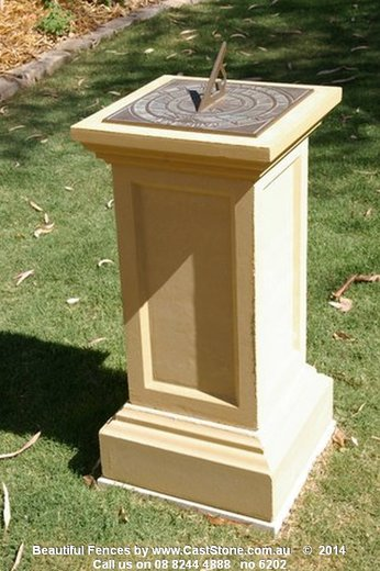 The Blackwood pedestal with sun dial