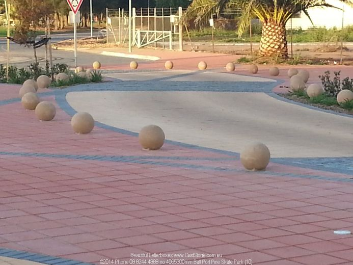 Skate Park has Sandstone Ball edge